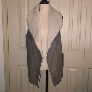 Madison & Lola Faux Shearling & Faux Suede Vest